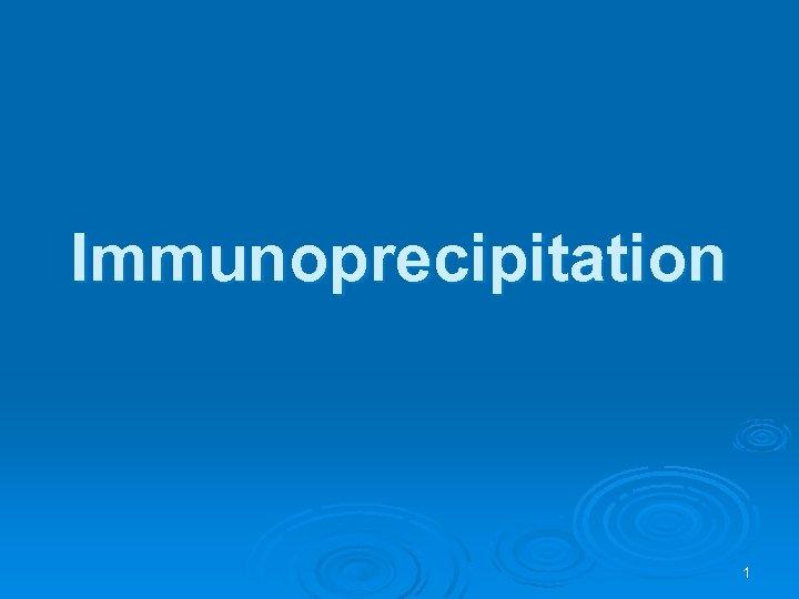 Immunoprecipitation 1