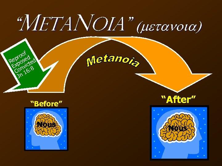 """""""Meta. Noia"""" (metanoia) f roo ed p Re pos ted Ex nvic 8 Co"""