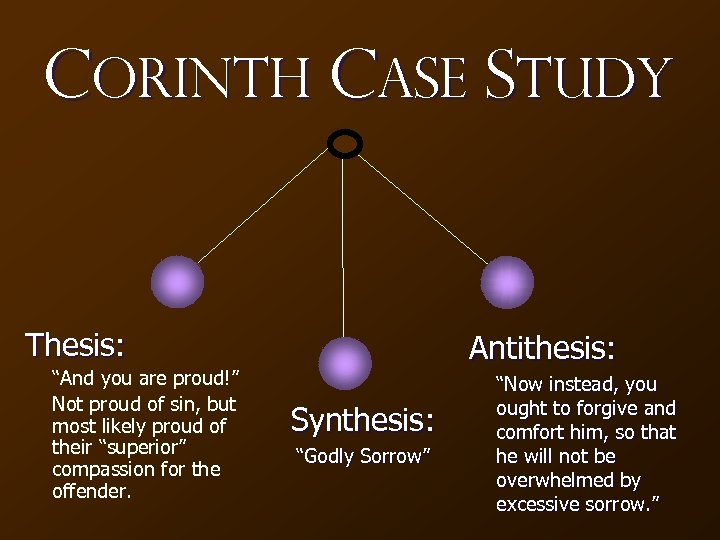 "Corinth Case Study Thesis: ""And you are proud!"" Not proud of sin, but most"