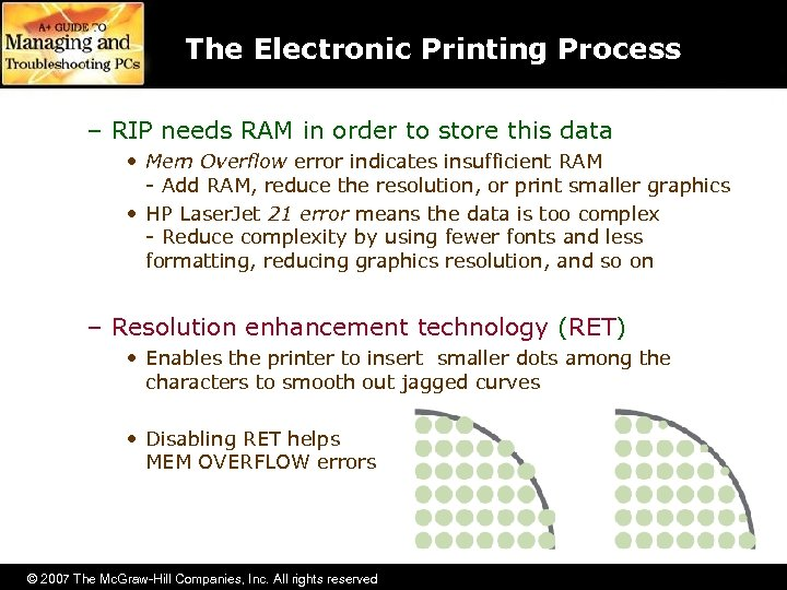 The Electronic Printing Process – RIP needs RAM in order to store this data
