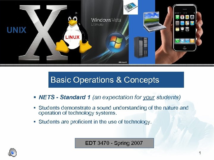 UNIX LINUX Basic Operations & Concepts § NETS - Standard 1 (an expectation for