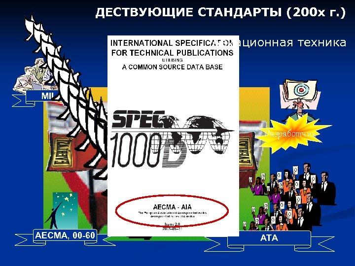 ДЕСТВУЮЩИЕ СТАНДАРТЫ (200 х г. ) Авиационная техника MIL 1000 D ATA 2200 Разработчик