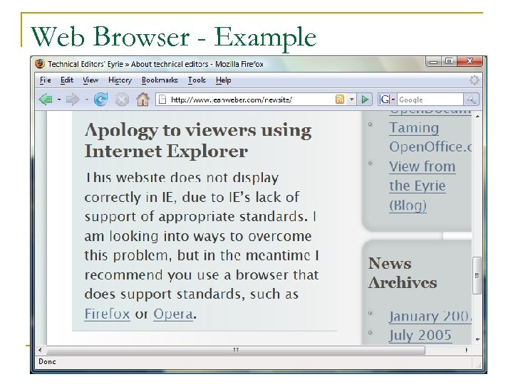 Web Browser - Example