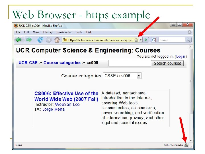 Web Browser - https example