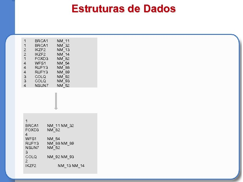 Estruturas de Dados 1 1 2 2 1 4 4 4 3 3 4