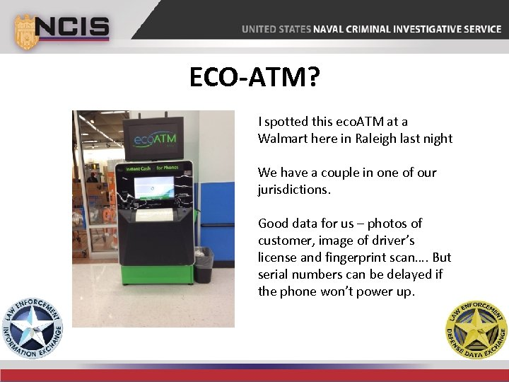 ECO-ATM? I spotted this eco. ATM at a Walmart here in Raleigh last night