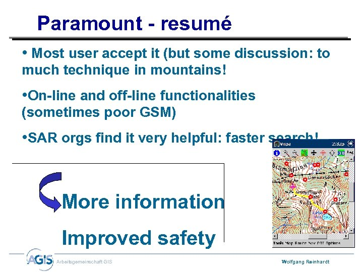 Paramount - resumé • Most user accept it (but some discussion: to much technique