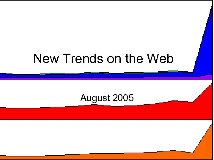 New Trends on the Web August 2005