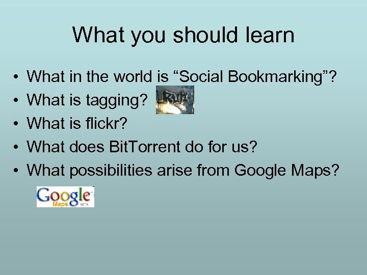 """What you should learn • • • What in the world is """"Social Bookmarking""""?"""