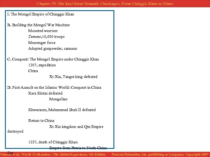 Chapter 19: The Last Great Nomadic Challenges: From Chinggis Khan to Timur I. The