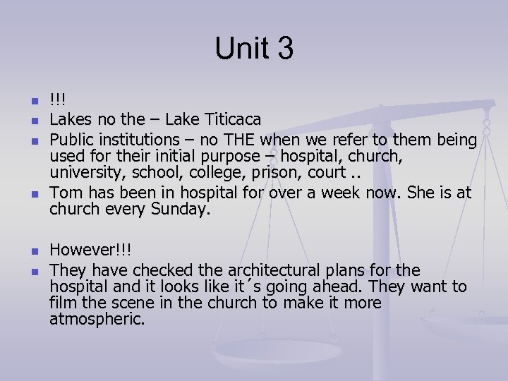 Unit 3 n n n !!! Lakes no the – Lake Titicaca Public institutions