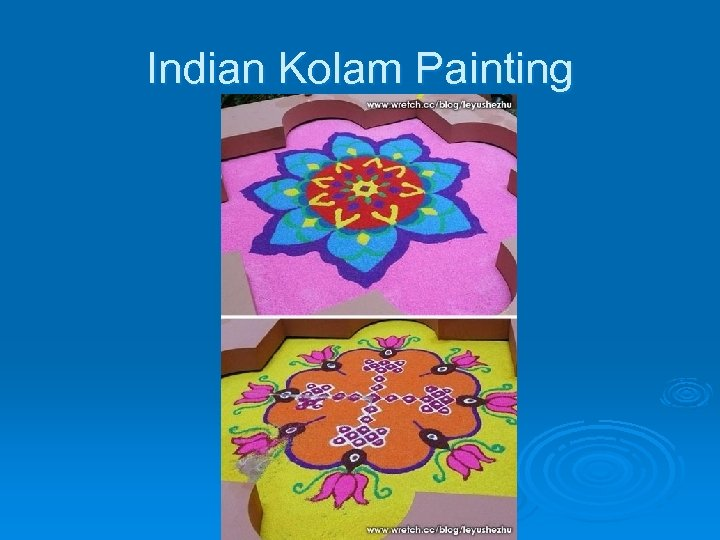 Indian Kolam Painting