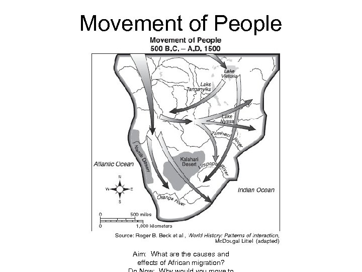 Movement of People Aim: What are the causes and effects of African migration?