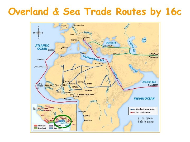 Overland & Sea Trade Routes by 16 c