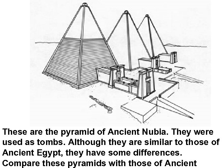 These are the pyramid of Ancient Nubia. They were used as tombs. Although they