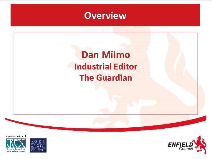 Overview Dan Milmo Industrial Editor The Guardian In partnership with: