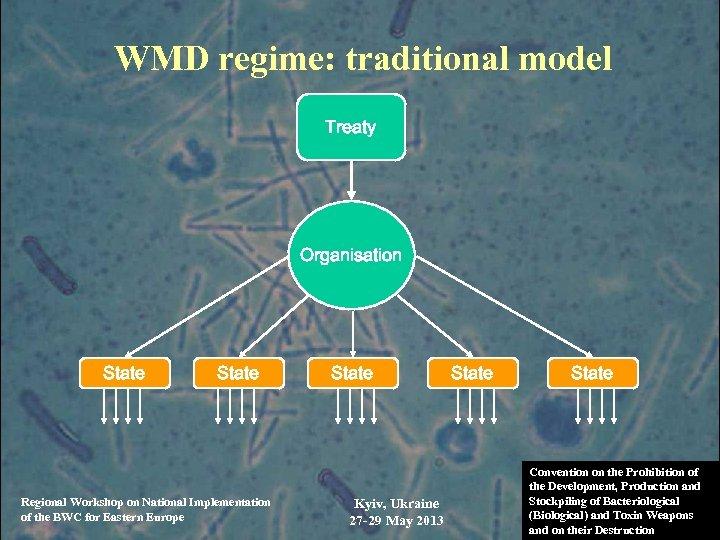 WMD regime: traditional model Treaty Organisation State Regional Workshop on National Implementation of the