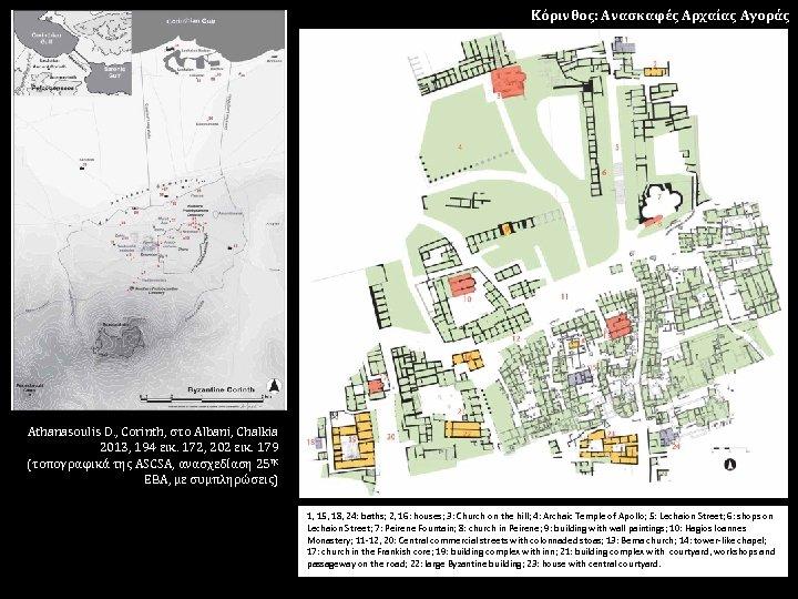 Κόρινθος: Ανασκαφές Αρχαίας Αγοράς Athanasoulis D. , Corinth, στο Albani, Chalkia 2013, 194 εικ.