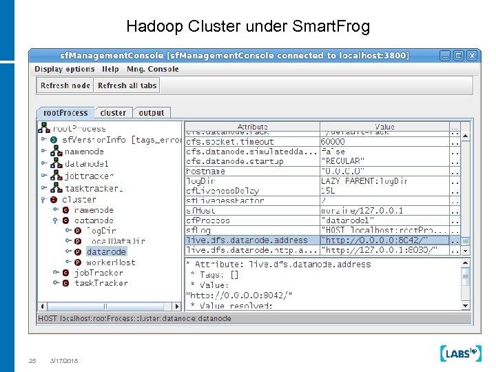 Hadoop Cluster under Smart. Frog 25 3/17/2018