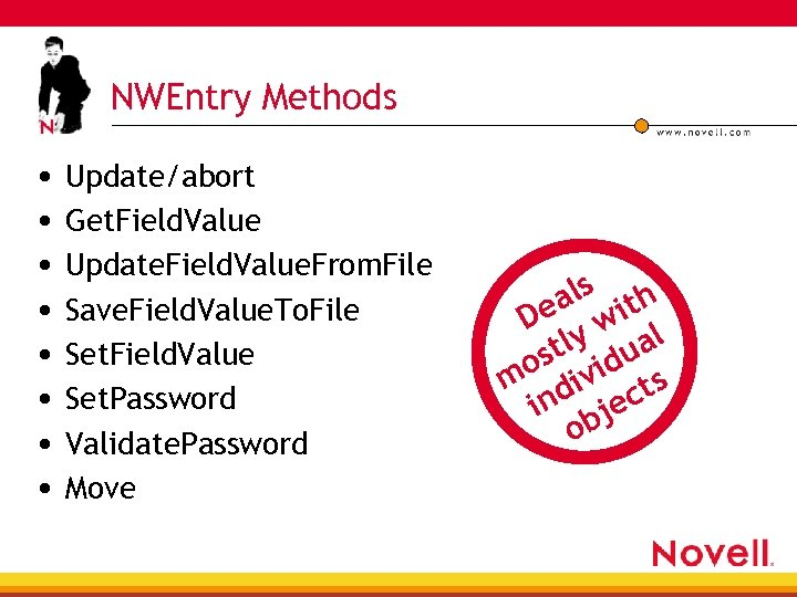 NWEntry Methods • Update/abort • Get. Field. Value • Update. Field. Value. From. File