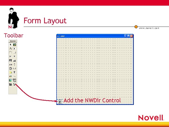 Form Layout Toolbar Add the NWDir Control
