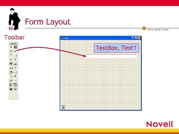 Form Layout Toolbar Text. Box, Text 1