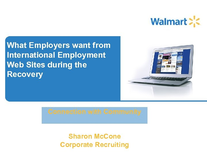 What Employers want from International Employment Web Sites during the Recovery Connection with Community