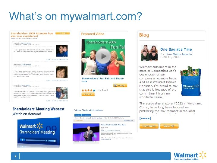 What's on mywalmart. com? 9