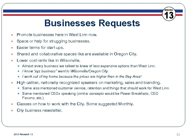 Businesses Requests Promote businesses here in West Linn now. Space or help for struggling