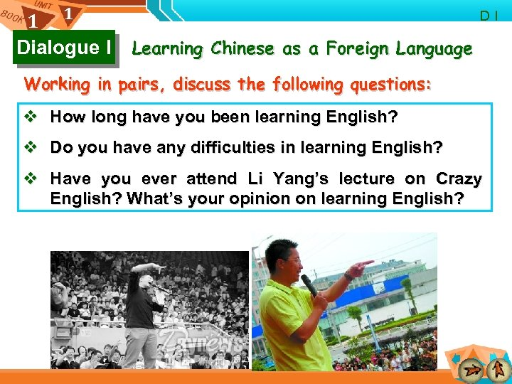 1 1 Dialogue I D I Learning Chinese as a Foreign Language Working in