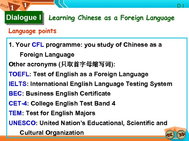 1 1 Dialogue I D I Learning Chinese as a Foreign Language points 1.