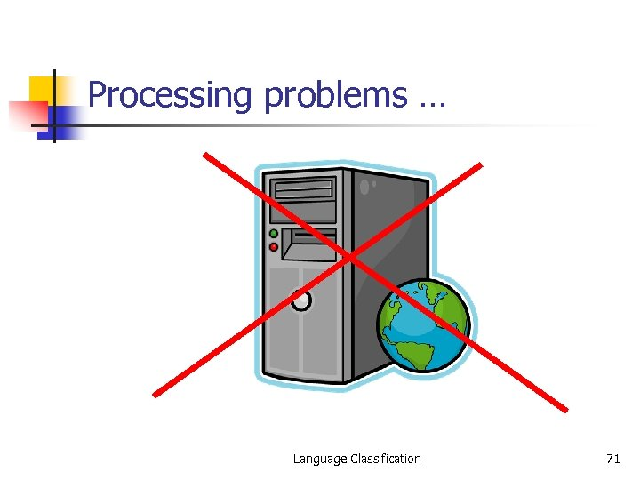 Processing problems … Language Classification 71