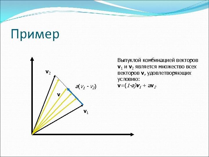 Пример v 2 a ( v 1 - v 2 ) v v 1