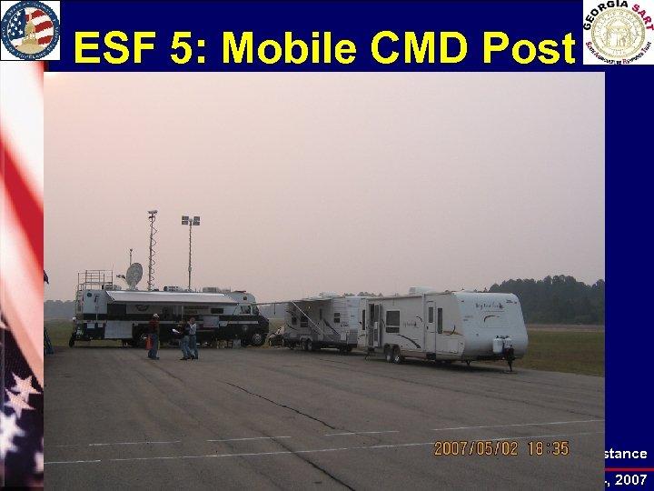 ESF 5: Mobile CMD Post Local Agriculture Planning Assistance EMAG Conference, November 12 -14,