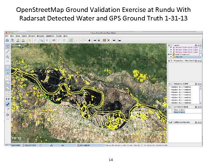 Open. Street. Map Ground Validation Exercise at Rundu With Radarsat Detected Water and GPS
