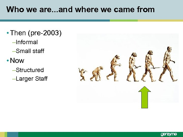Who we are. . . and where we came from • Then (pre-2003) –Informal