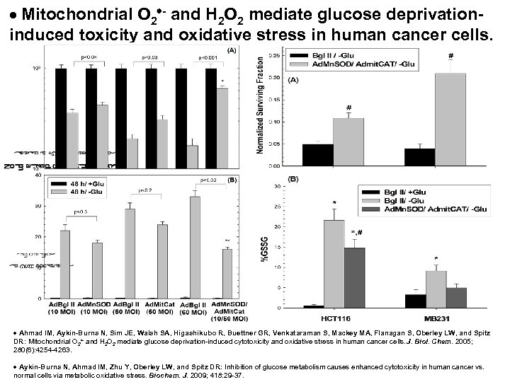 Mitochondrial O 2 - and H 2 O 2 mediate glucose deprivationinduced toxicity