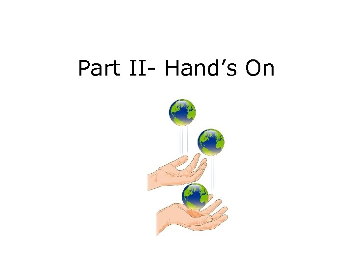 Part II- Hand's On