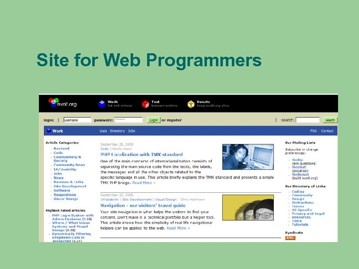 Site for Web Programmers