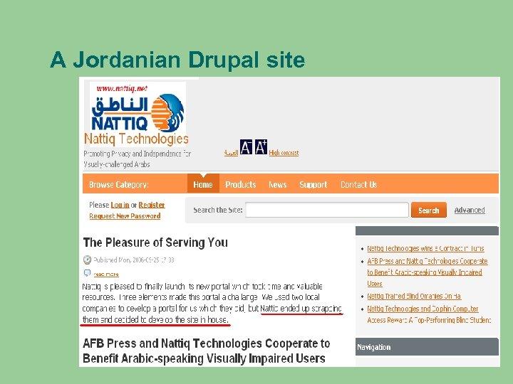 A Jordanian Drupal site