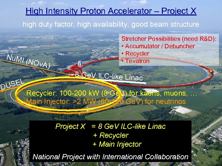 f High Intensity Proton Accelerator – Project X high duty factor, high availability, good