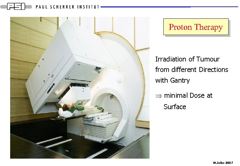 Proton Therapy Irradiation of Tumour from different Directions with Gantry Þ minimal Dose at