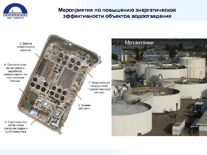 Мероприятия по повышению энергетической эффективности объектов водоотведения Метантенки