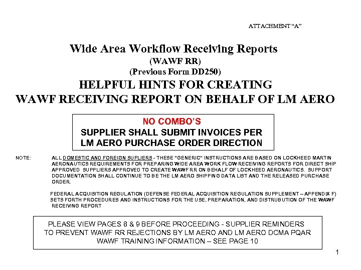 Wawf invoice instructions.