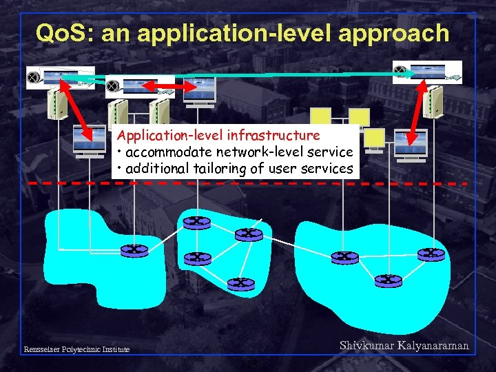 Qo. S: an application-level approach Application-level infrastructure • accommodate network-level service • additional tailoring