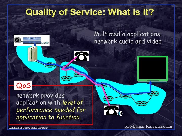 Quality of Service: What is it? Multimedia applications: network audio and video Qo. S
