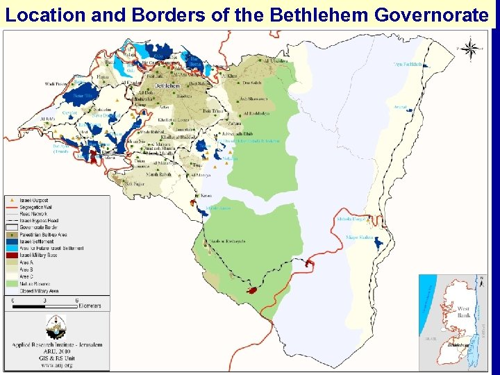 Location and Borders of the Bethlehem Governorate