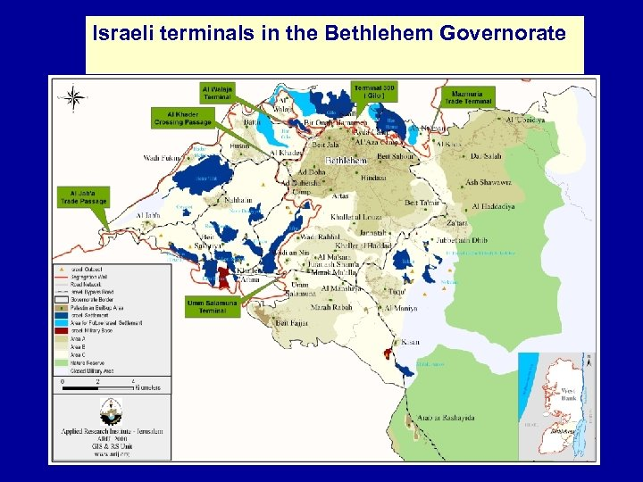 Israeli terminals in the Bethlehem Governorate