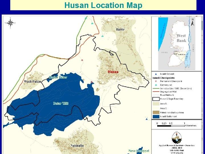 Husan Location Map