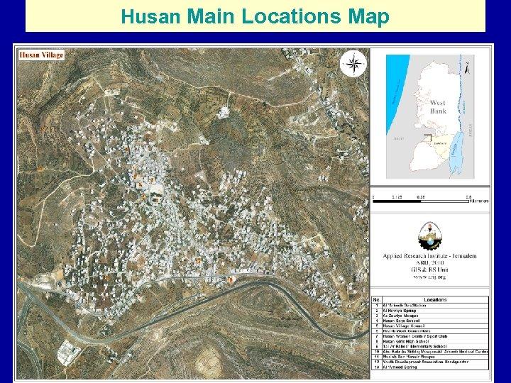 Husan Main Locations Map